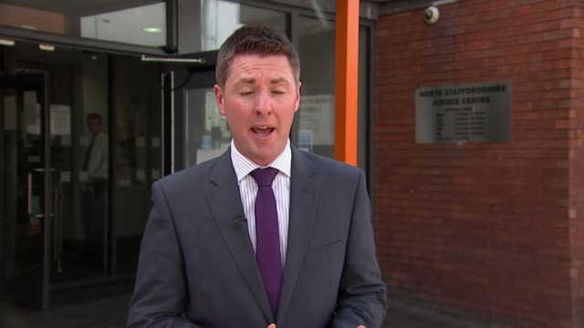 Michael Stirling appears in court ENGLAND Staffordshire NewcastleunderLyme EXT Reporter to camera SOT