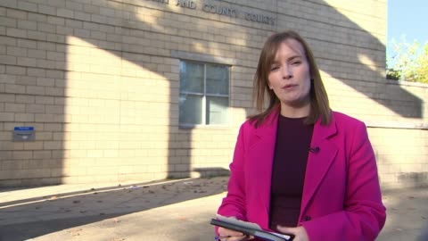samantha eastwood murder: michael stirling pleads guilty to murder; england: northampton: combined crown and city courts: ext reporter to camera. - northampton stock-videos und b-roll-filmmaterial