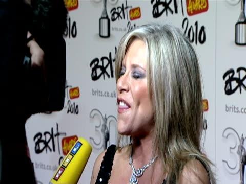 Samantha Fox at the The Brit Awards 2010 at London England