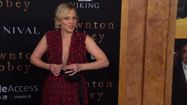 "samantha mathis at ""downton abbey"" new york premiere at alice tully hall on september 16, 2019 in new york city. - samantha mathis stock videos & royalty-free footage"