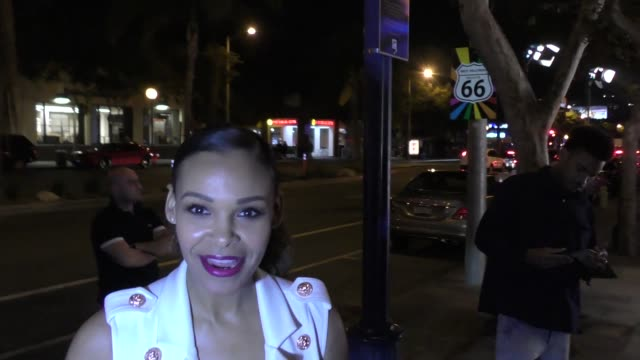 Samantha Mumba is asked about RB vs Rap outside the Silent Pool Gin Launch Party at Tom Tom in West Hollywood in Celebrity Sightings in Los Angeles