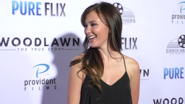 Samantha Munro at the Woodlawn Premiere at Bruin Theatre on October 05 2015 in Los Angeles California