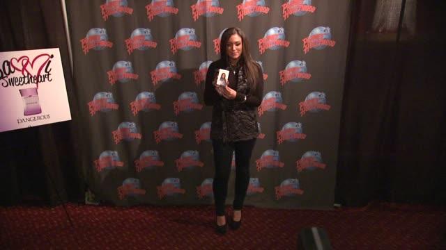 Samantha 'Sammi Sweetheart' Giancola at at Samantha 'Sammi Sweetheart' Giancola Visits Planet Hollywood Promoting Her DANGEROUS Fragrance New York NY...