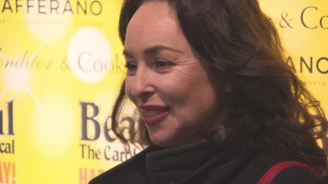 samantha spiro at beautifulthe carole king musical's birthday celebrations at aldwych theatre on february 23 2016 in london england - aldwych theatre stock videos & royalty-free footage