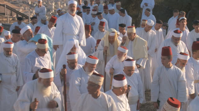samaritan pilgrimage ceremony at mount gerizim near west bank city of nablus,samaria - palestinian territories stock videos and b-roll footage