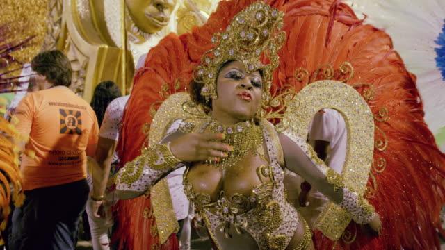 ms samba dancers at rio carnival / rio de janeiro, brazil - body paint stock videos & royalty-free footage