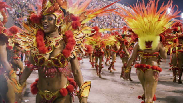 ms samba dancers at rio carnival / rio de janeiro, brazil - latin american culture stock videos & royalty-free footage