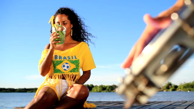 samba mulata and caipirinha - cachaça stock videos & royalty-free footage