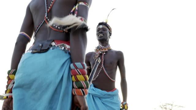 samburu tribesmen - traditional clothing stock videos & royalty-free footage