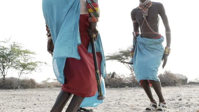 samburu tribesmen - masai stock videos and b-roll footage