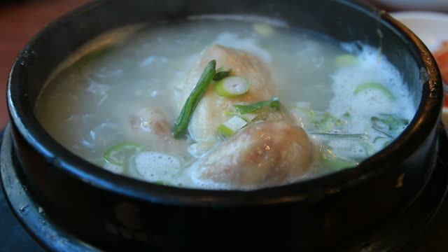 Samgyetang (Ginseng chicken soup) Korean Food