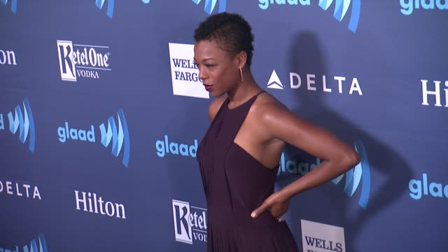 samira wiley at the 26th annual glaad media awards at the beverly hilton hotel on march 21 2015 in beverly hills california - the beverly hilton hotel stock videos & royalty-free footage