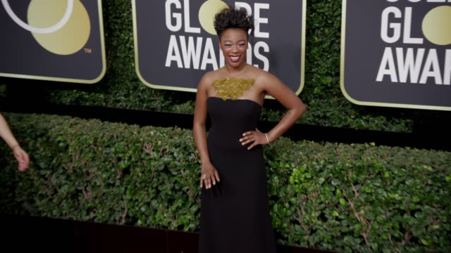 Samira Wiley at the 75th Annual Golden Globe Awards at The Beverly Hilton Hotel on January 07 2018 in Beverly Hills California