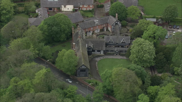 samlesbury hall (on a677 west of mellor brook) - lancashire stock videos and b-roll footage