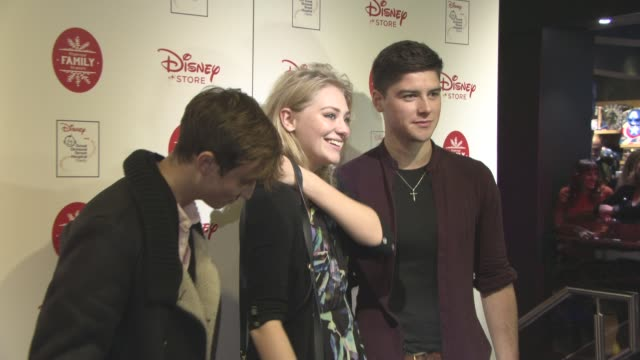 sammy moore georgia lock finney cassidy at disney store christmas vip party at disney store on november 9 2016 in london england - lock stock videos and b-roll footage