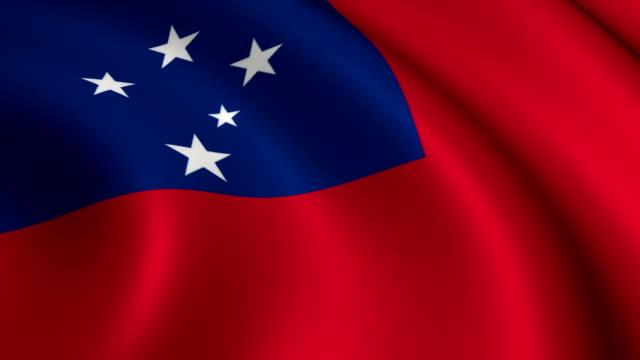 samoa flag loopable - samoa stock videos & royalty-free footage