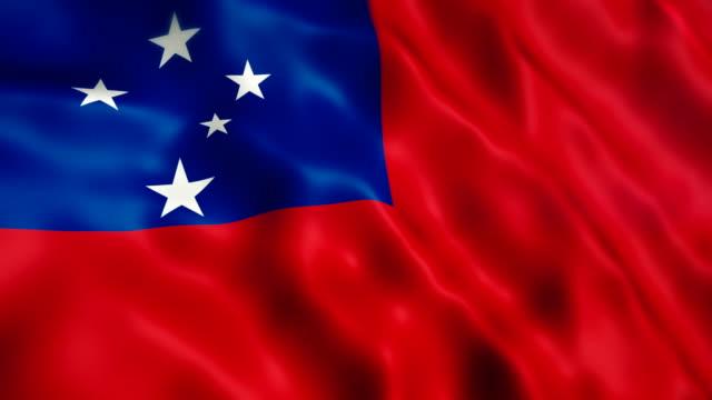 samoa flag - samoa stock videos & royalty-free footage