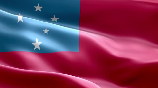 samoa national flag - samoa stock videos & royalty-free footage