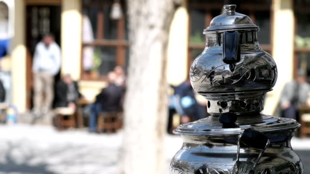 hd: samovar on table - decorative urn stock videos and b-roll footage