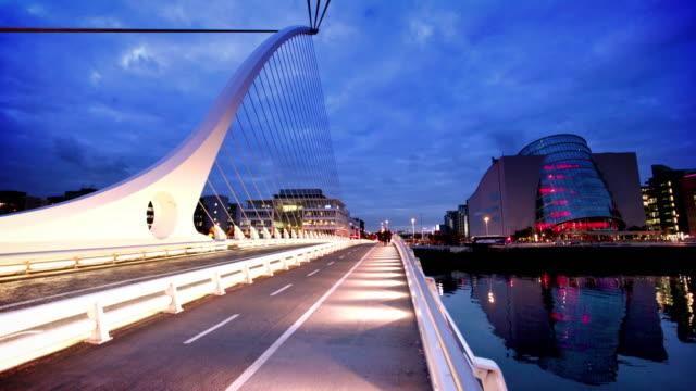 Samuel ponte di Beckett al crepuscolo, Dublino, Irlanda