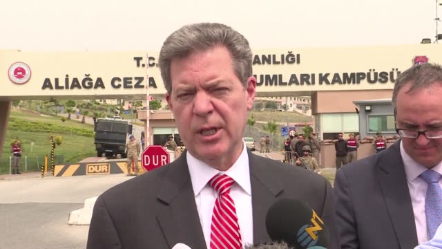 samuel brownback the us ambassador at large for international religious freedoms comments on the trial of american pastor andrew brunson who faces... - pastor stock videos & royalty-free footage
