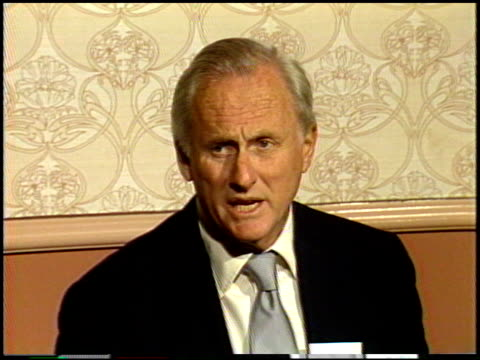 samuel goldwyn jr at the 1987 academy awards luncheon at dorothy chandler pavilion in los angeles california on march 30 1987 - dorothy chandler pavilion stock videos and b-roll footage