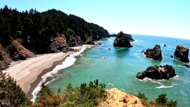 samuel h. boardman state scenic corridor park - oregon us state stock videos & royalty-free footage