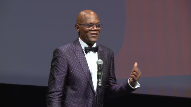 Samuel L Jackson accepts Life Achievement award at 2016 Dubai International Film Festival Opening Night Red Carpet at Madinat Jumeirah on December 7...
