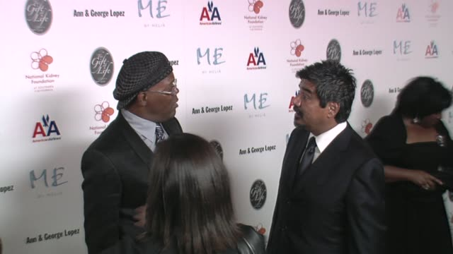 Samuel L Jackson and George Lopez at the 29th Annual The Gift of Life Gala at the Hyatt Regency Century Plaza Hotel in Beverly Hills California on...