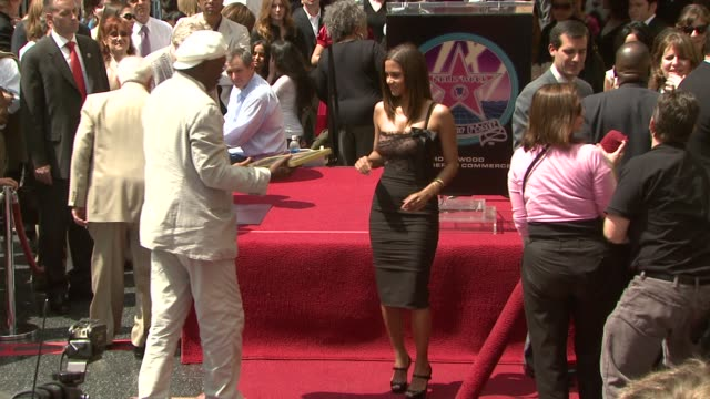 samuel l jackson and halle berry at the dedication of halle berry's walk of fame star at hollywood and highland in hollywood california on april 3... - walk of fame stock videos & royalty-free footage