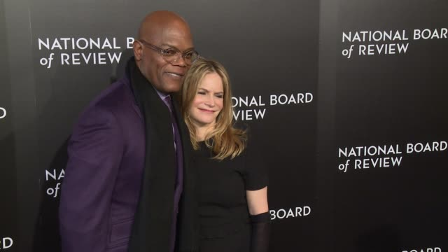 Samuel L Jackson and Jennifer Jason Leigh at The National Board of Review Gala honoring the 2015 Award Winners at Cipriani 42nd Street on January 05...