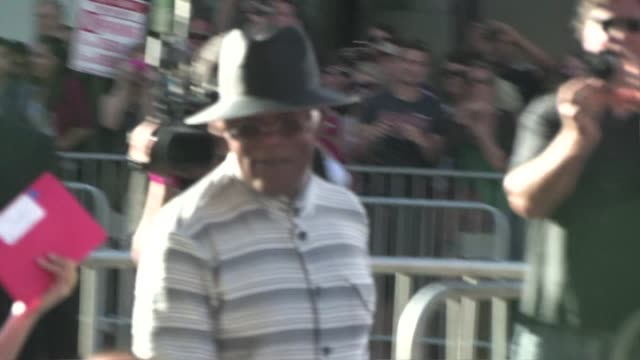 Samuel L Jackson arrives at the Captain America Premiere in Hollywood