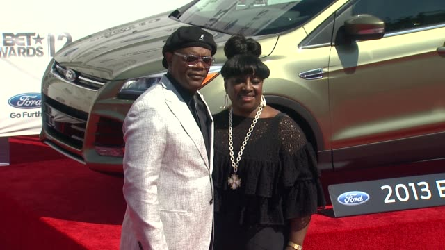 samuel l jackson at 2012 bet awards on 7/1/12 in los angeles ca - black entertainment television stock videos & royalty-free footage