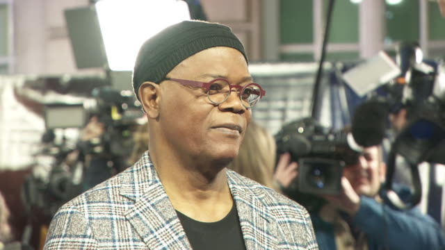 samuel l jackson at captain marvel european gala on february 27 2019 in london united kingdom - gala stock videos & royalty-free footage