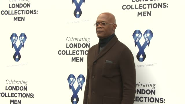 Samuel L Jackson at London Collections Men One For The Boys charity ball at Natural History Museum on June 15 2014 in London England