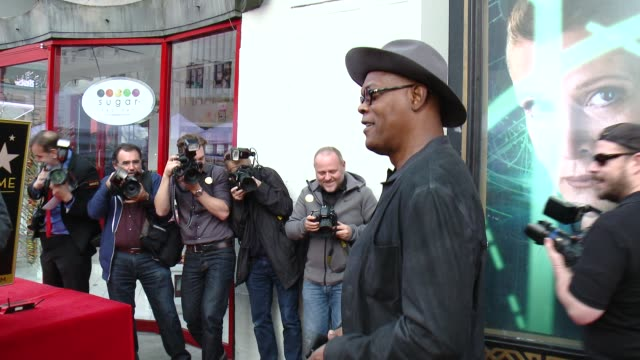 Samuel L Jackson at Quentin Tarantino Honored with Star on the Hollywood Walk of Fame at Hollywood Walk Of Fame on December 21 2015 in Hollywood...