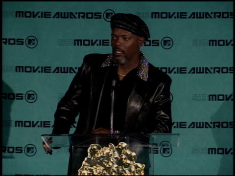 Samuel L Jackson at the 1998 MTV Movie Awards Pool Feed at Barker Hanger in Santa Monica California on May 30 1998