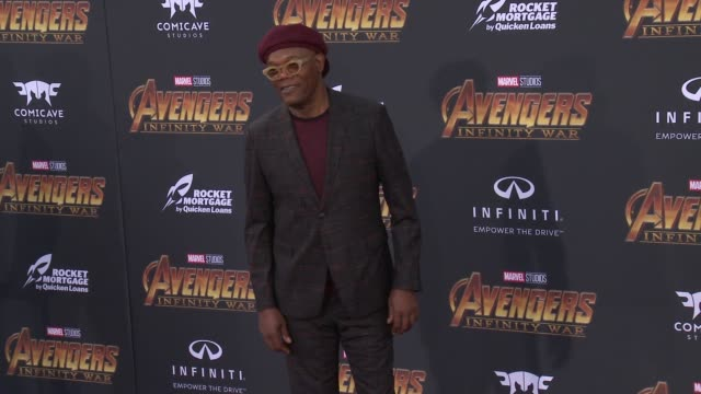 Samuel L Jackson at the Avengers Infinity War World Premiere on April 23 2018 in Hollywood California
