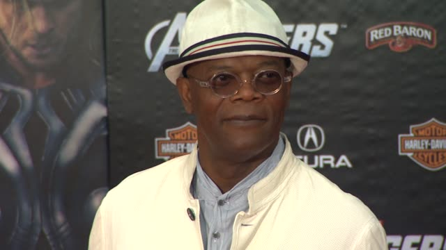 Samuel L Jackson at The Avengers World Premiere on 4/11/12 in Los Angeles CA