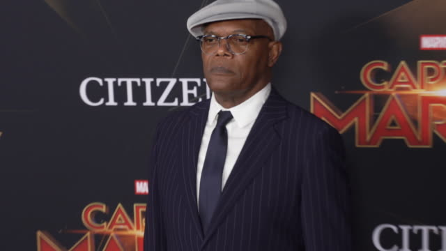 Samuel L Jackson at the Captain Marvel World Premiere at the El Capitan Theatre on March 04 2019 in Hollywood California