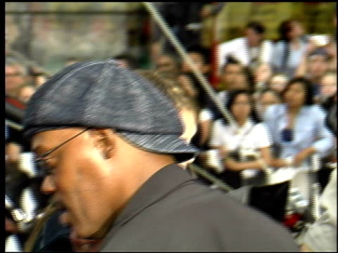 samuel l jackson at the 'charlie's angels full throttle' premiere at grauman's chinese theatre in hollywood california on june 18 2003 - throttle stock videos & royalty-free footage