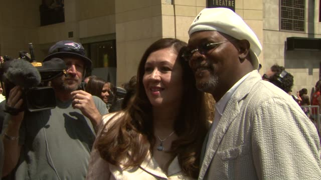 Samuel L Jackson at the Dedication of Halle Berry's Walk of Fame Star at Hollywood and Highland in Hollywood California on April 3 2007