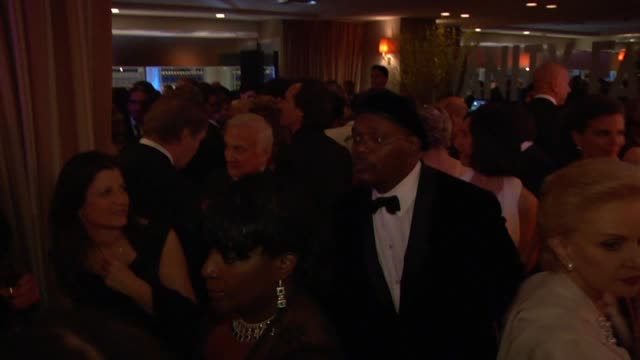 samuel l. jackson at the inside the vanity fair oscar party 2010 at west hollywood ca. - oscar party stock videos & royalty-free footage