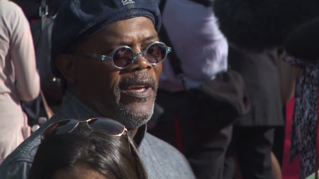 samuel l jackson at the 'iron man 2' premiere at hollywood ca - neckwear stock videos and b-roll footage