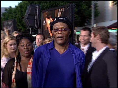 samuel l jackson at the 'swat' premiere on july 30, 2003. - s.w.a.t. film title stock videos & royalty-free footage