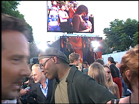 Samuel L Jackson at the 'XXX' Premiere at the Mann Village Theatre in Westwood California on August 5 2002