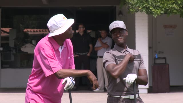 Samuel L Jackson Don Cheadle The 7th Annual George Lopez Celebrity Golf Classic Presented By Sabra Salsa at Lakeside Golf Club on May 05 2014 in...