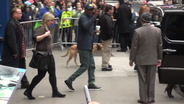 Samuel L Jackson exits the Good Morning America show and gets into his car in Celebrity Sightings in New York