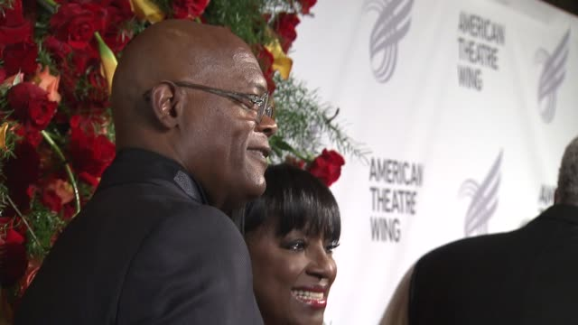 samuel l jackson george lucas jeff daniels and magic johnson honored james earl jones at american theatre wing annual gala for his outstanding work... - magic johnson stock videos and b-roll footage