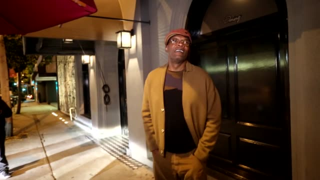 INTERVIEW Samuel L Jackson jokes about Capitol One Card while leaving dinner at Craig's Restaurant in West Hollywood in Celebrity Sightings in Los...